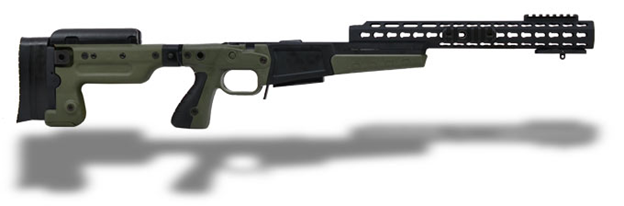 Above is the world renowned Accuracy International Chassis.